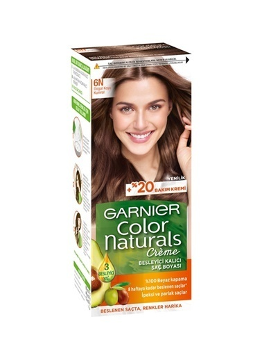 Garnier Garnier Color Naturals 6N Doğal Kumral Saç Boyası Renksiz